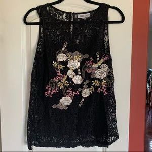 NWT gorgeous All over lace sleeveless top